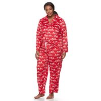 Plus Size Croft & Barrow® Pajamas: Fleece Top & Pants 2-Piece PJ Set