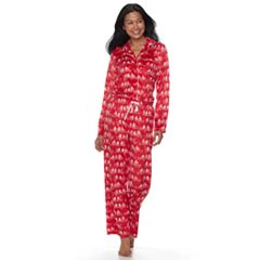 Petite Croft & Barrow® Pajamas: Fleece Top & Pants 2 pc PJ Set