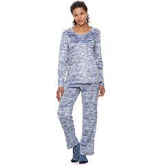 Women's Croft & Barrow® Pajamas: Scoopneck Top, Pants & Socks 3-Piece PJ Set