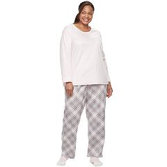 Plus Size Croft & Barrow® Pajamas: Scoopneck Top, Pants & Socks 3 pc PJ Set