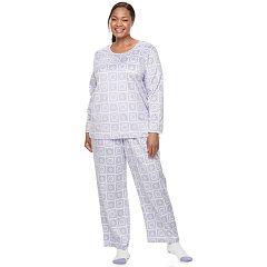 Plus Size Croft & Barrow® Pajamas: Scoopneck Top, Pants & Socks 3-Piece PJ Set