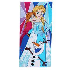 Disney's Frozen Elsa, Anna & Olaf Beach Towel by Jumping Beans®