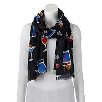 Apt. 9® Holiday Cocktails Pashmina Oblong Scarf