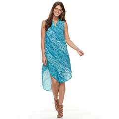 Women's Sharagano Printed High-Low Dress