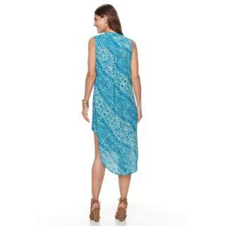 Women's Sharagano Printed High-Low Dress