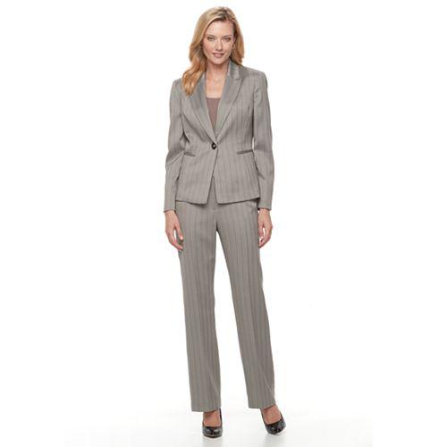 Women s Le Suit Herringbone Suit Jacket   Pants Set 0596bd85fe
