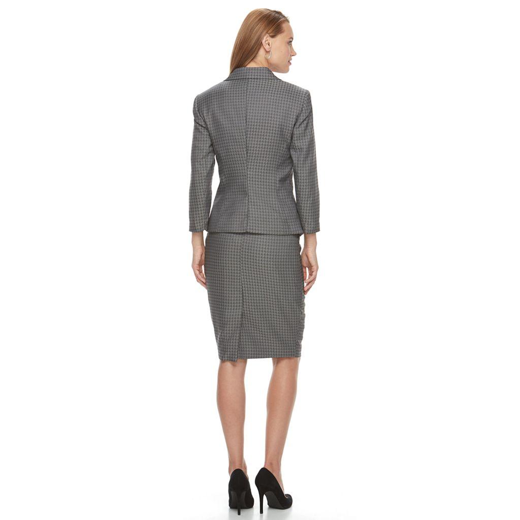 Women's Le Suit 3-Button Skirt Suit