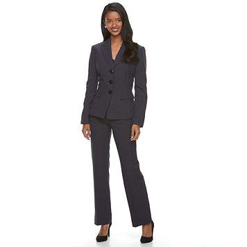 Women's Le Suit 3-Button Striped Pant Suit