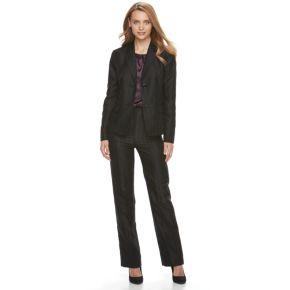 Women's Le Suit Novelty Stripe Pant Suit
