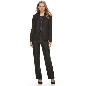 Women's Le Suit Novelty Stripe Pant Suit