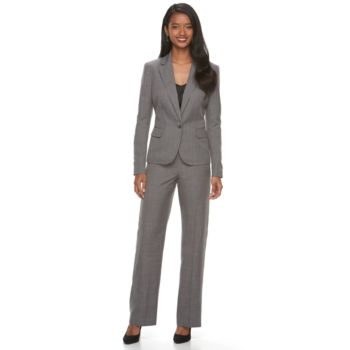Women's Le Suit Twill 1-Button Pant Suit