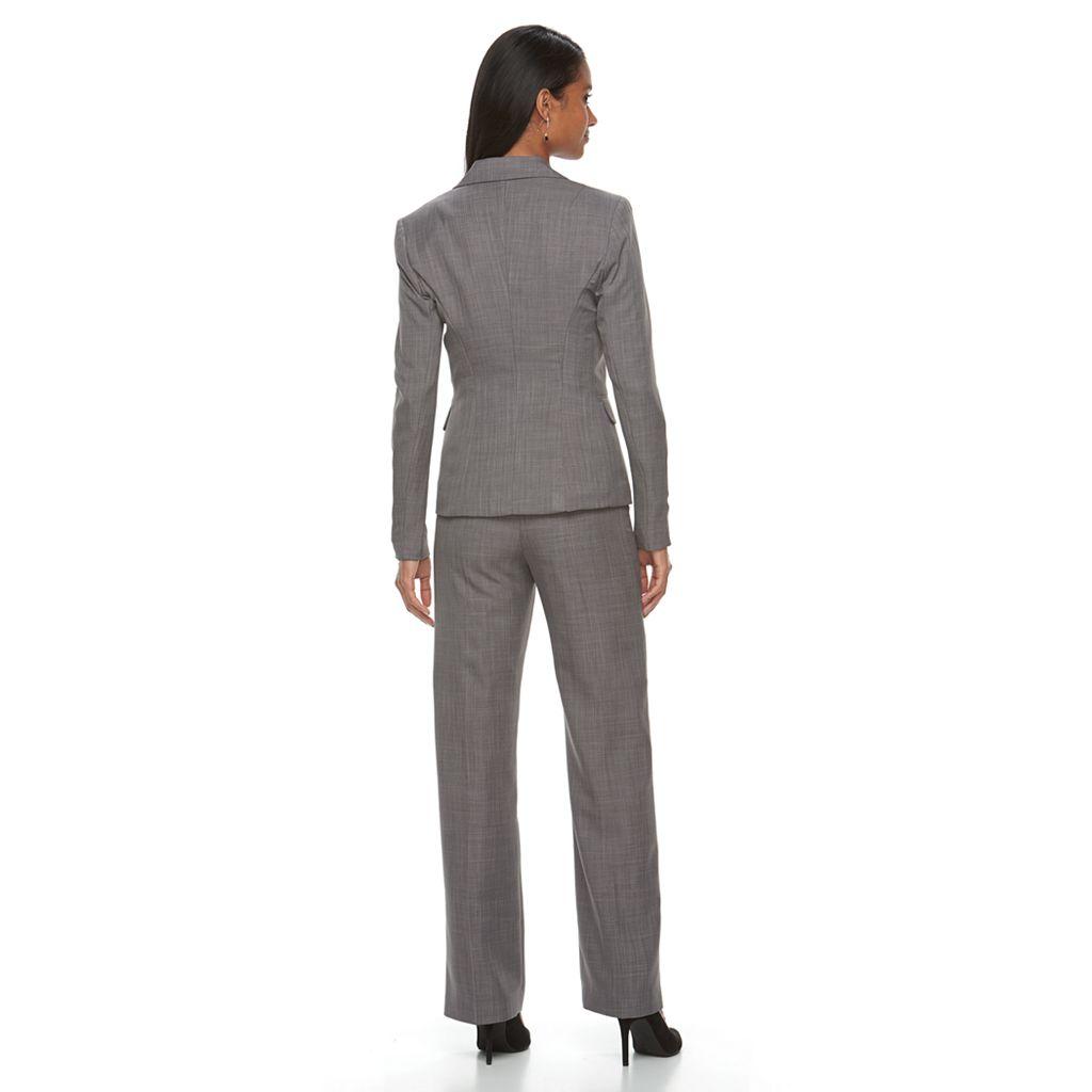 Women's Le Suit Twill 1-Button Pant Suit