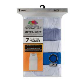 Boys 6-20 Fruit of the Loom 7-Pack Ultra Soft Tanks