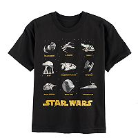 Boys 8-20 Star Wars Tons of Ships Tee