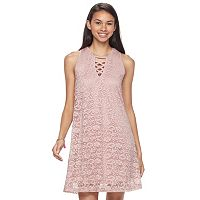 Juniors' Liberty Love Gigi Lace Shift Dress
