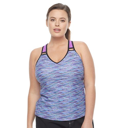 Plus Size ZeroXposur Ladder-Back Tankini Top