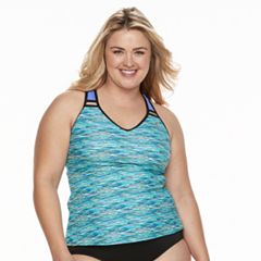 Plus Size ZeroXposur Ladder-Back Tankini Top