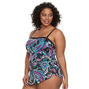 Plus Size Apt. 9 Paisley One-Piece Swimsuit