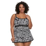 Plus Size Apt. 9® Printed Swimdress