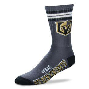 Men's For Bare Feet Vegas Golden Knights Deuce Striped Crew Socks