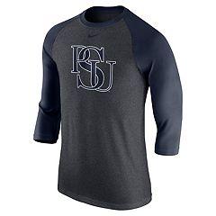 Men's Nike Penn State Nittany Lions Tri-Blend Raglan Tee