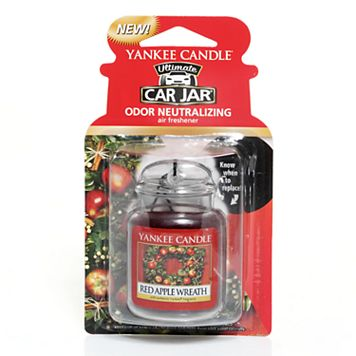 Yankee Candle Red Apple Wreath Car Jar Ultimate Air Freshener