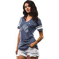 Women's Majestic Atlanta Braves Slugging Percentage Tee