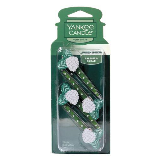 Yankee Candle Balsam & Cedar Car Vent Stick 4-piece Set