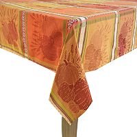 Celebrate Fall Together Pumpkin Jacquard Tablecloth