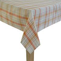 Celebrate Fall Together Fall Plaid Tablecloth