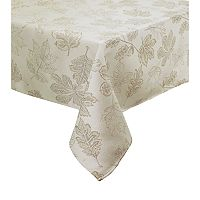 Celebrate Fall Together Metallic Leaf Tablecloth
