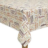 Celebrate Fall Together Word Toss Tablecloth