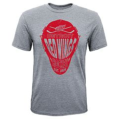 Boys 8-20 Detroit Red Wings Helmet Goals Tee