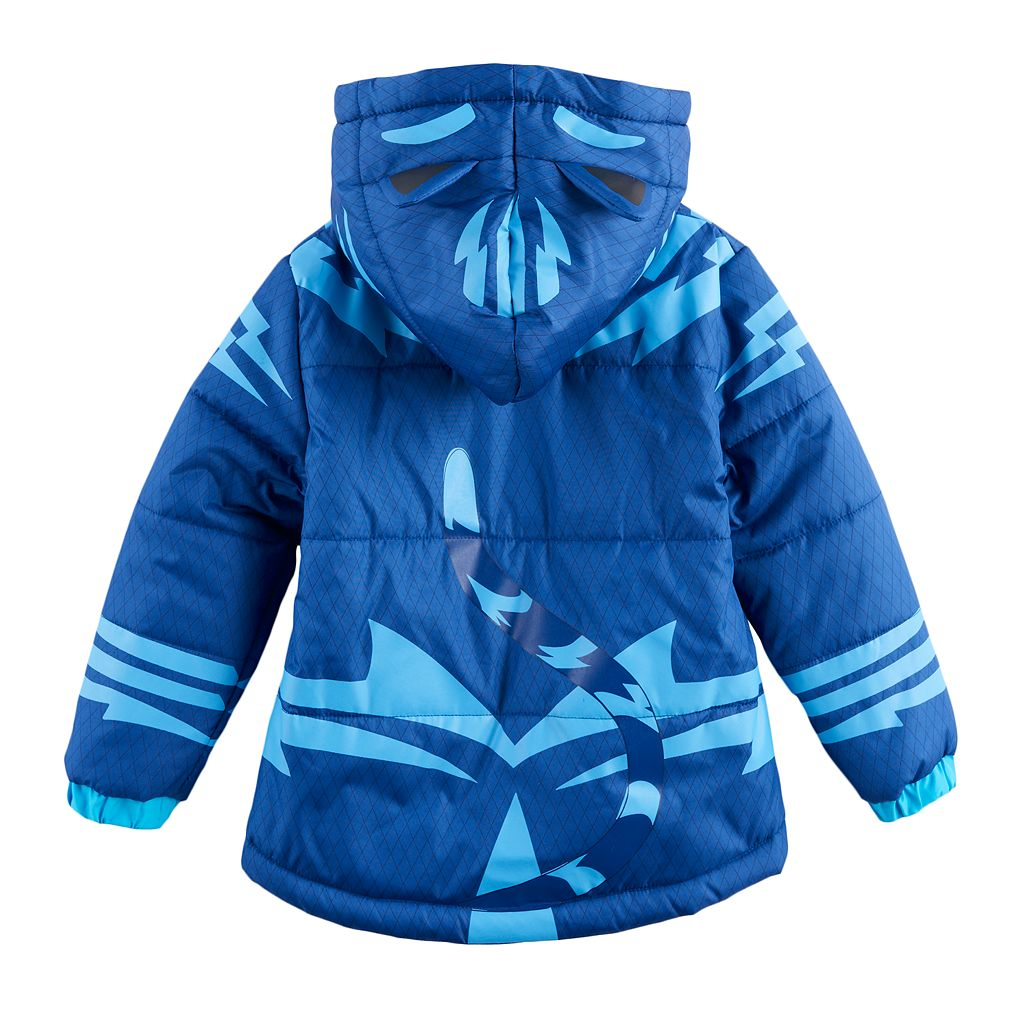 Toddler Boy PJ Masks Catboy Fleece-Lined Hooded Heavyweight Jacket