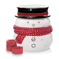 Yankee Candle Snowman Luminary Tealight Candle Holder 5 pc Set