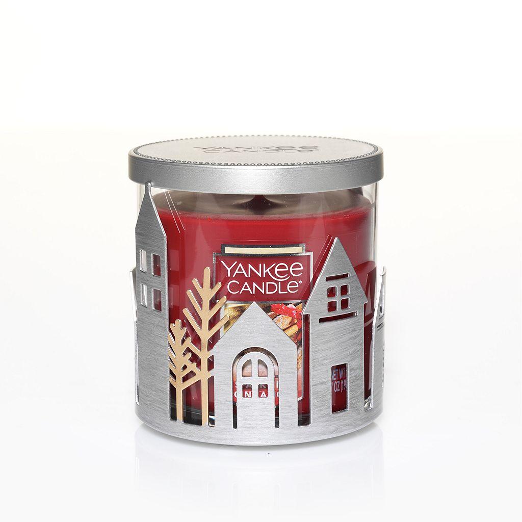 Yankee Candle Village Candle Holder & Sparkling Cinnamon 7-oz. Candle Jar 2-piece Set
