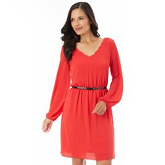 Women's Apt. 9® Scalloped Fit & Flare Dress
