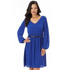 Women's Apt. 9® Scalloped Fit & Flare Dress