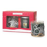 Yankee Candle Snowman Candle Holder & Balsam & Cedar 7-oz. Candle Jar 2-piece Set