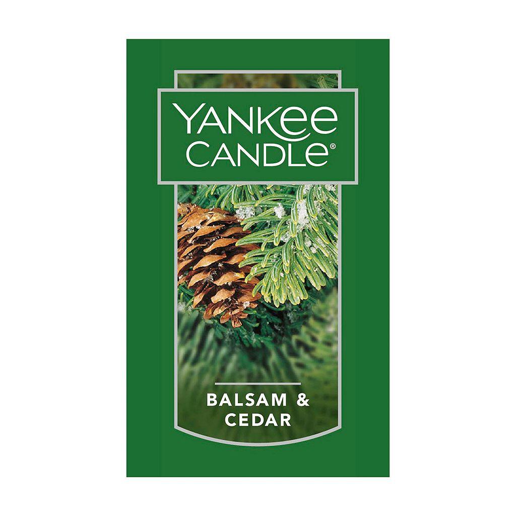 Yankee Candle Snowman Candle Holder & Balsam & Cedar 7-oz. Candle Jar 2-piece Set