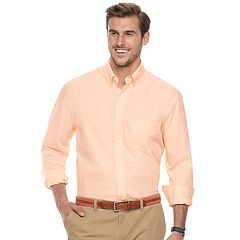 Big & Tall IZOD Regular-Fit Stretch End-On-End Button-Down Shirt
