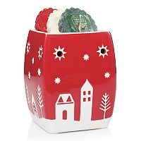 Yankee Candle Christmas Village Tart Wax Melt Warmer 4-piece Set