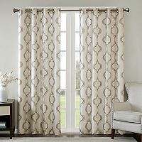 Madison Park Della Faux Silk Embroidered Window Curtain