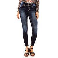 Juniors' Wallflower Curvy Bling Ankle Jeans