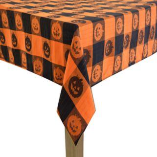 Celebrate Halloween Together Woven Jacquard Pumpkin Tablecloth