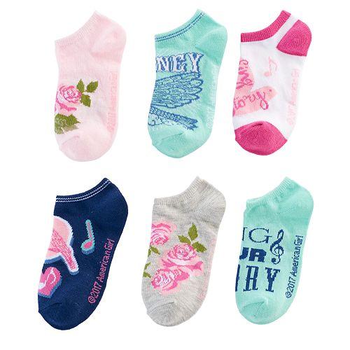 Girls 4-16 American Girl Tenney 6-pk. No-Show Socks