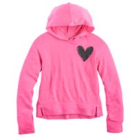 Girls 7-16 & Plus Size SO® Split Hem Graphic Hoodie