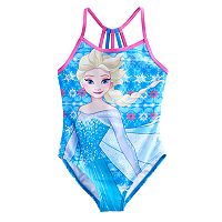 Disney's Frozen 4-6x Elsa Racerback One-Piece Swimsuit