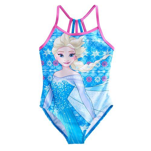 Disney's Frozen 4-6x Elsa Racerback One-Piece Swimsuit
