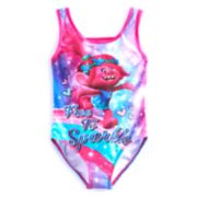 "Girls 4-6x DreamWorks Trolls Poppy ""Free To Sparkle"" Swimsuit"